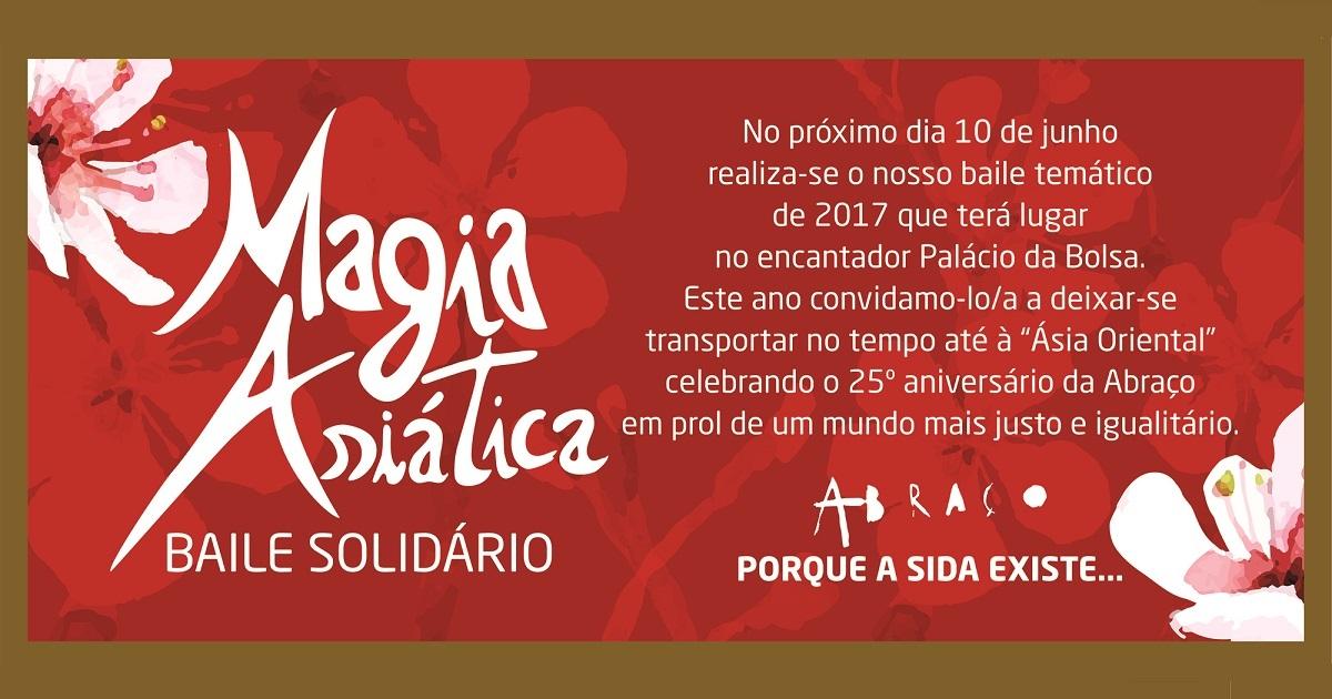 banner Baile Solidário Magia Asiática Abraço