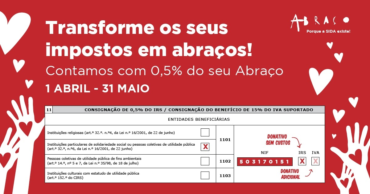 Doe 0,5% do IRS à ABRAÇO