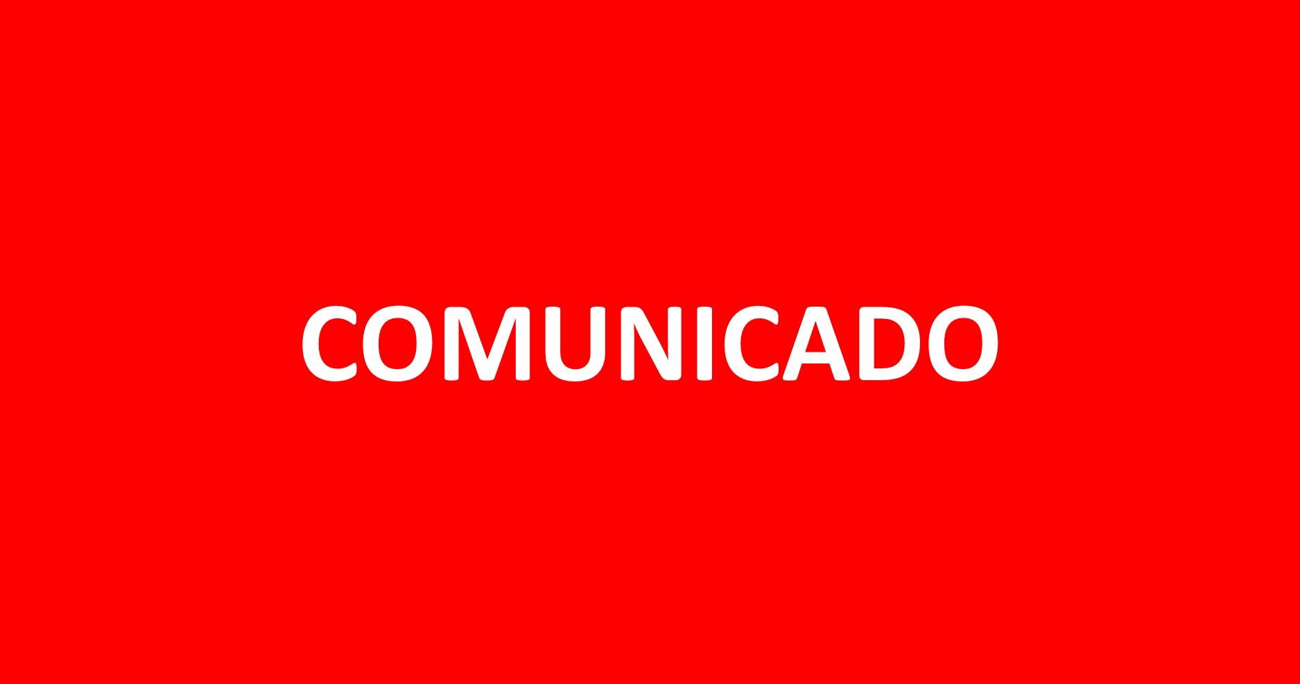 Comunicado | Teste em Casa