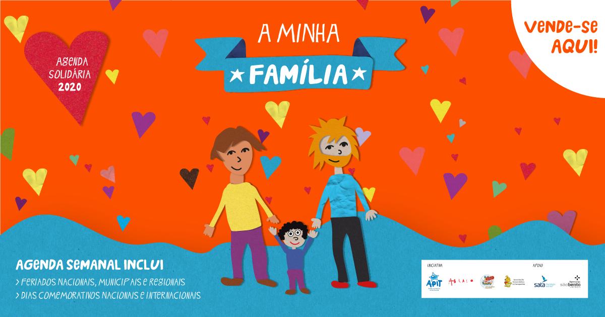 """Agenda Solidária 2020 """"A Minha Família"""""""